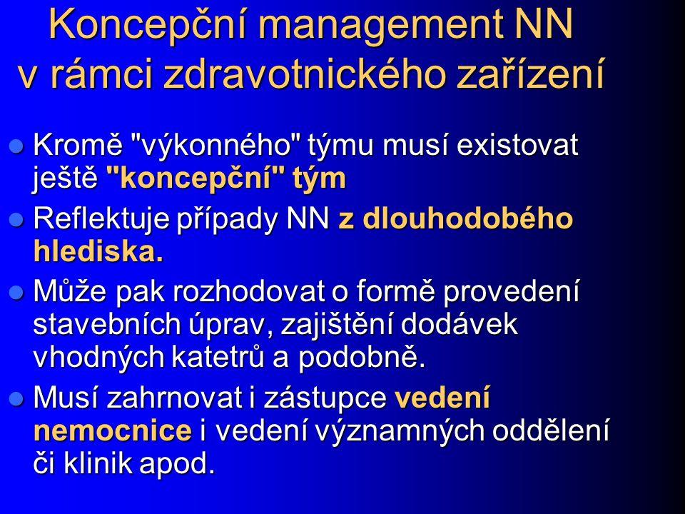 Koncepční management NN v rámci zdravotnického zařízení Kromě