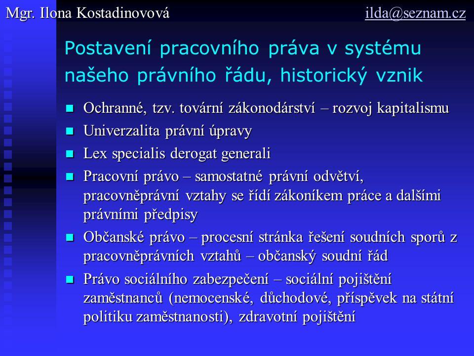 Vnitrostátní prameny českého pracovního práva.Normativní právní akty Normativní smlouvy 1.