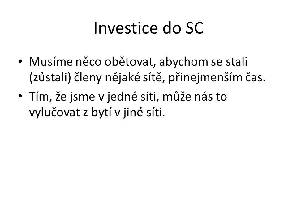 Negativní aspekty SC Zločinecké struktury Různé sítě se nemusí mít rády.