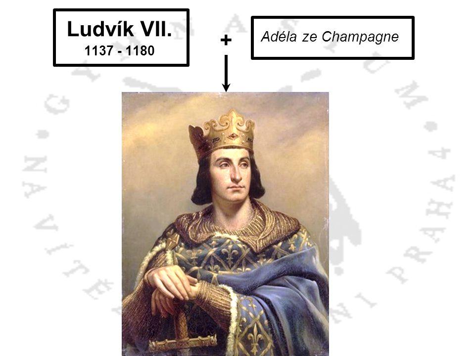 Ludvík VII. 1137 - 1180 Adéla ze Champagne + Filip II. August 1165 - 1223