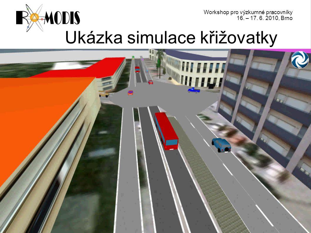 Workshop pro výzkumné pracovníky 16. – 17. 6. 2010, Brno Ukázka simulace křižovatky