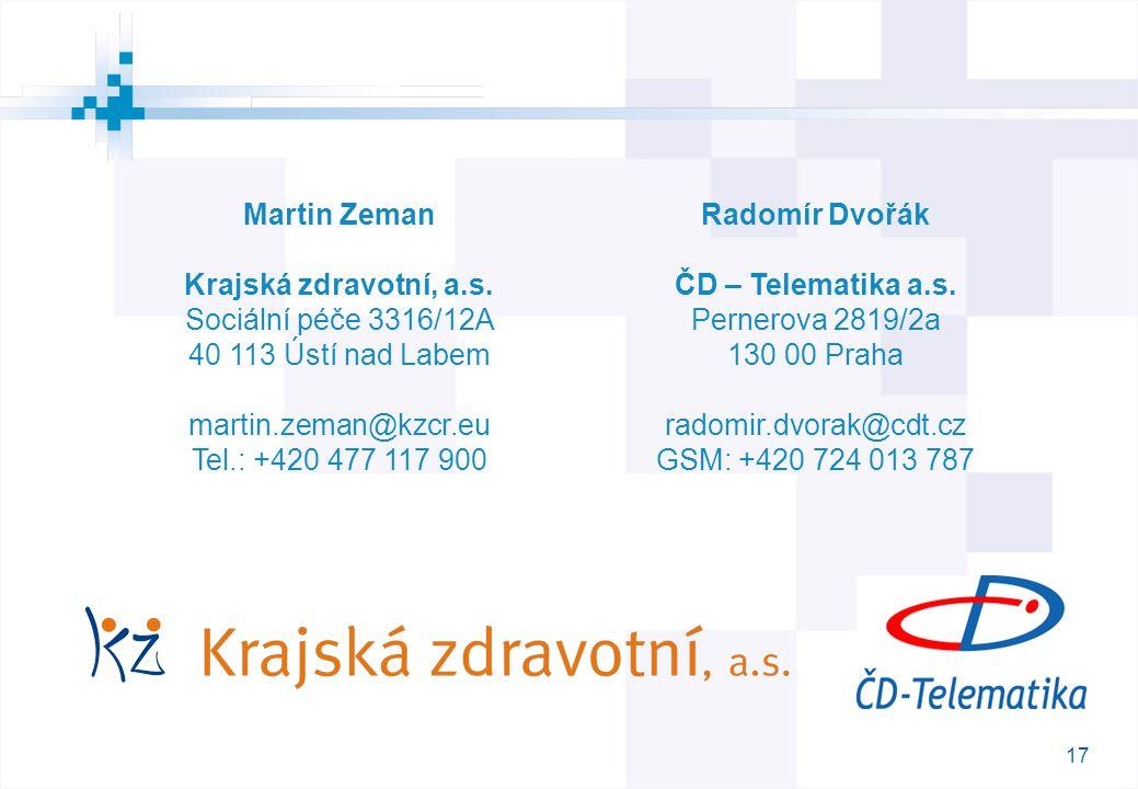17 M Martin Zeman Krajská zdravotní, a.s.