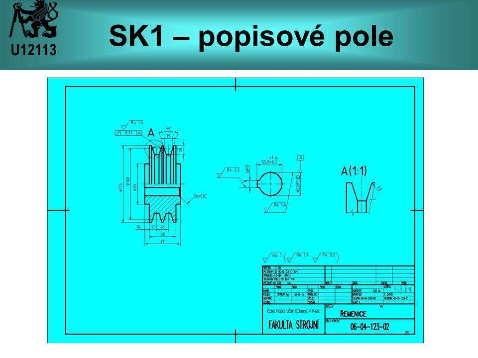 SK1 – popisové pole U12113