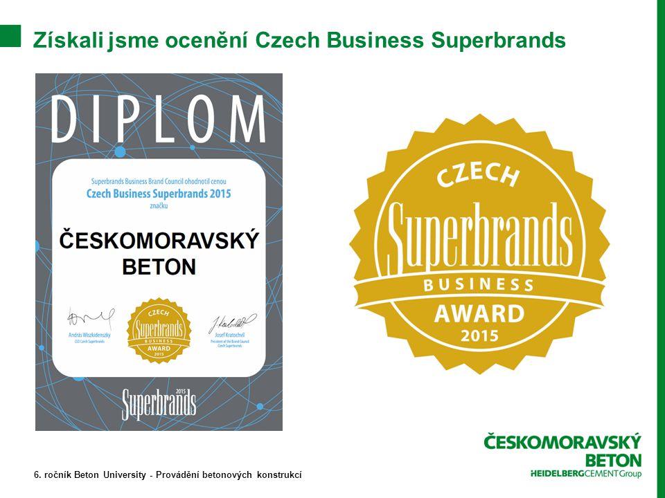 Získali jsme ocenění Czech Business Superbrands 6.