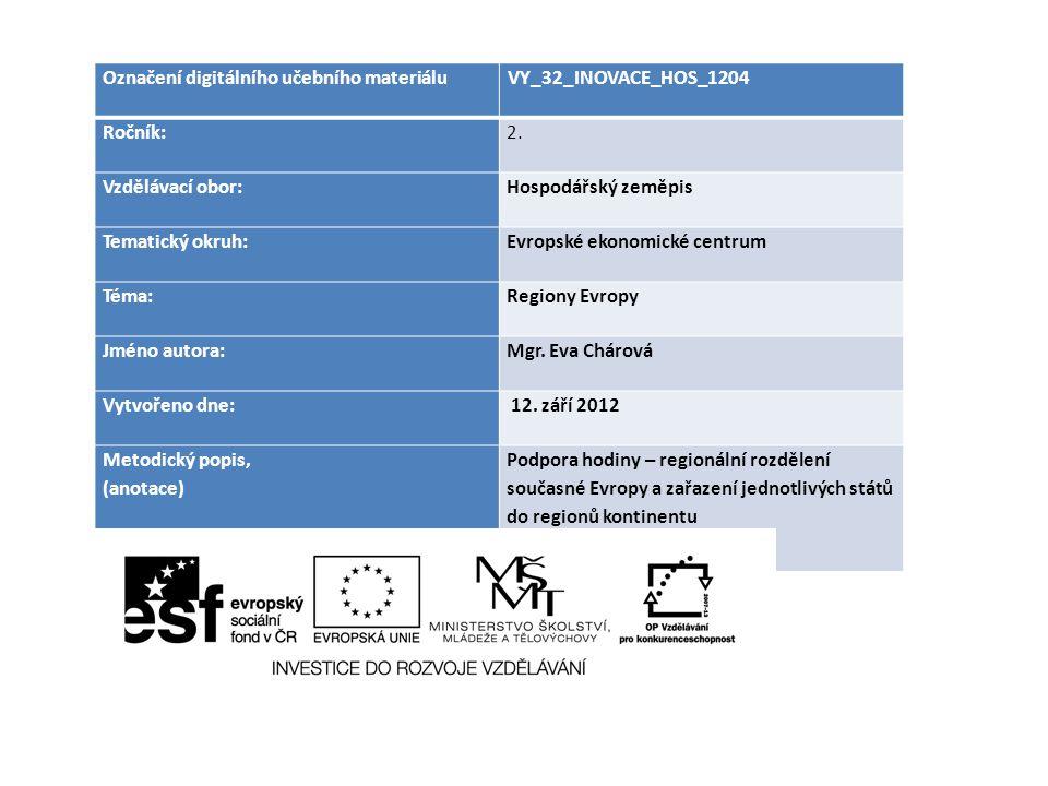 Označení digitálního učebního materiáluVY_32_INOVACE_HOS_1204 Ročník:2.