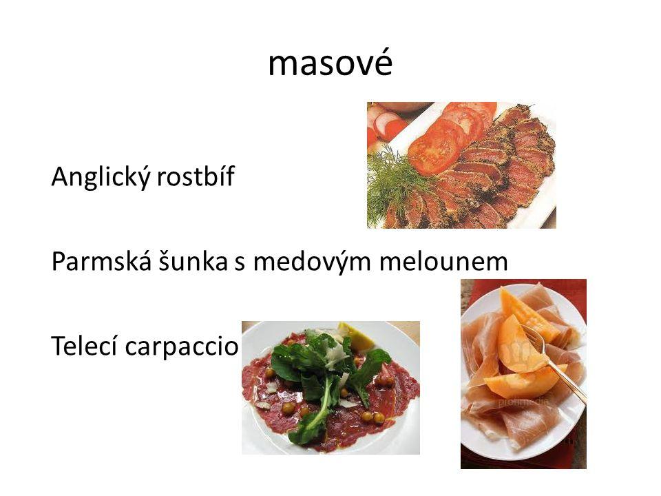 Další od masa Uzený jazyk s křenem a houbami Kuřecí galantína Paštika s brusinkami