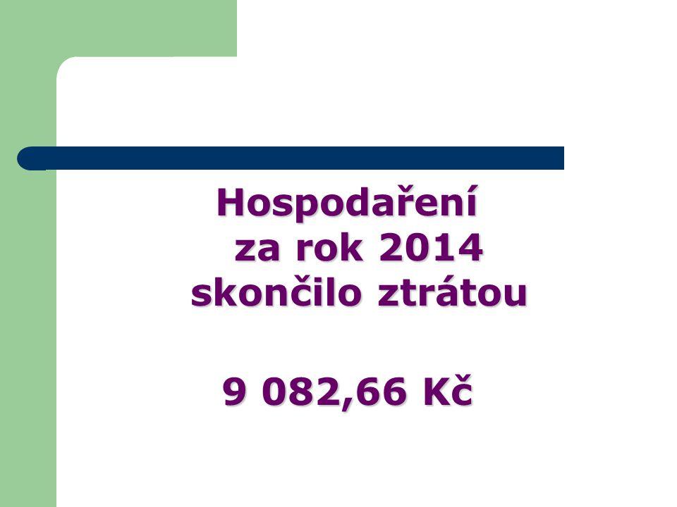 Hospodaření za rok 2014 skončilo ztrátou 9 082,66 Kč