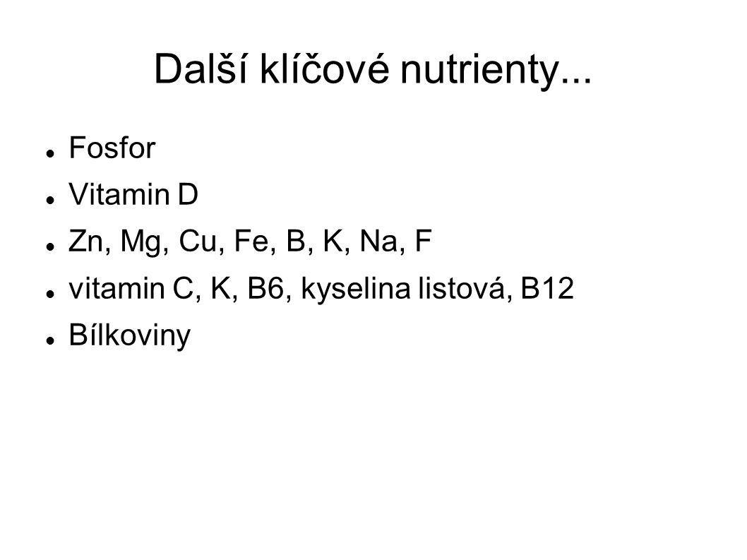 Další klíčové nutrienty...