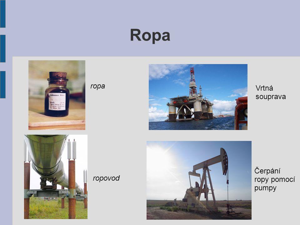 Zemní plyn Vyskytuje se většinou společně s ropou.