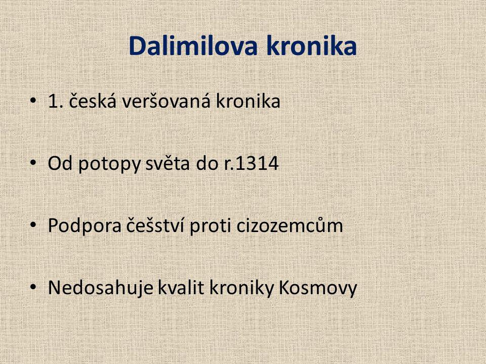 Dalimilova kronika 1.