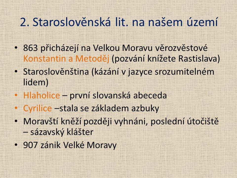 2. Staroslověnská lit.