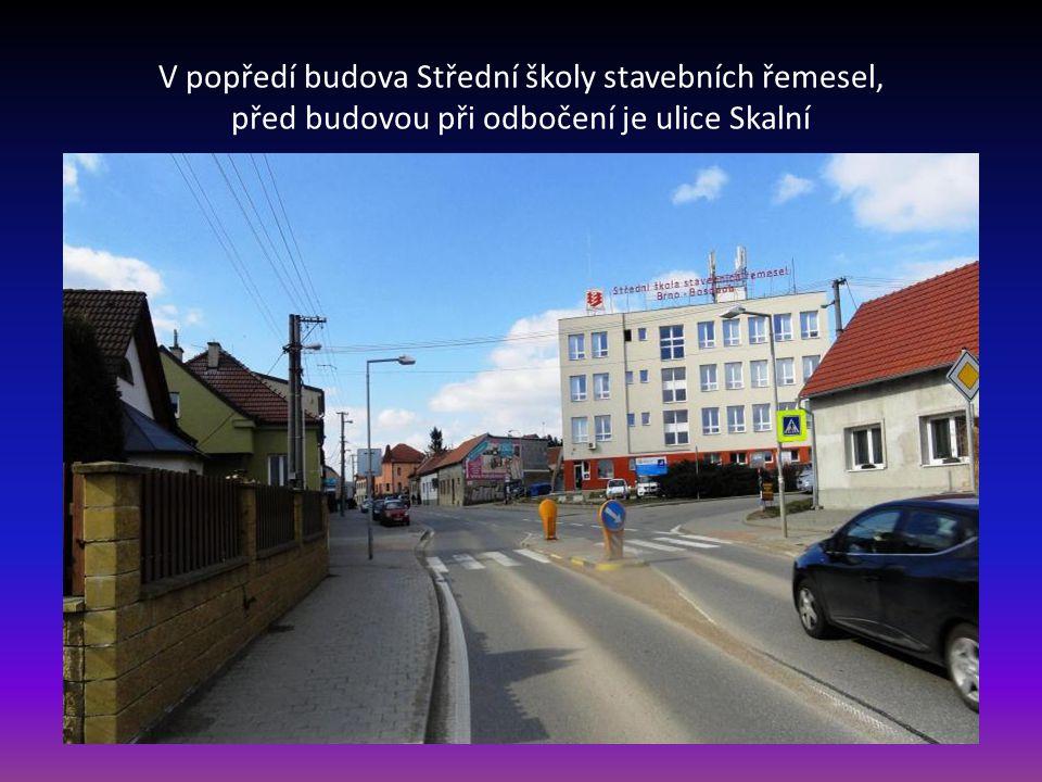 Příjezd po ulici Pražská do městské části Brno Bosonohy