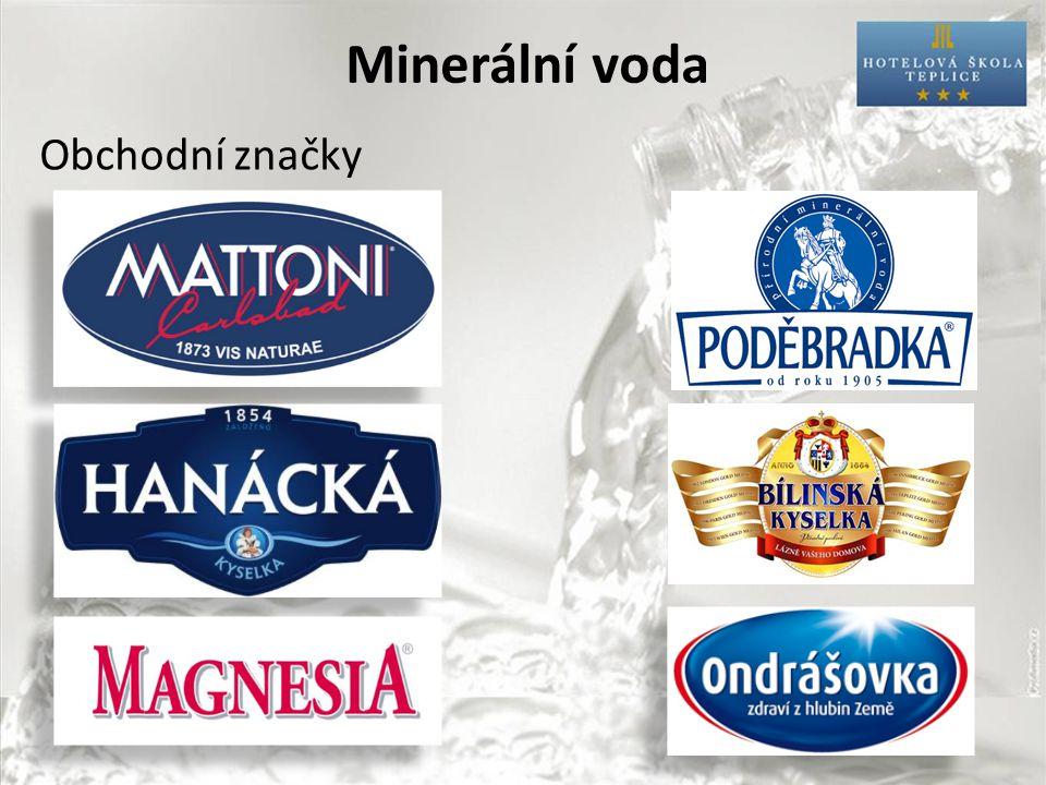 Minerální voda Obchodní značky