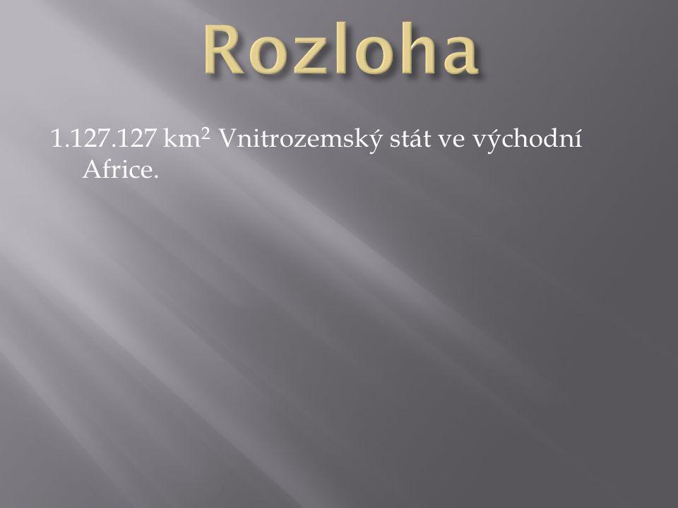 1.127.127 km 2 Vnitrozemský stát ve východní Africe.
