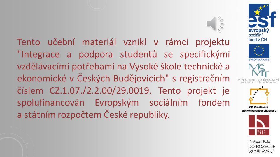 KAPITOLA 11: AKTIVNÍ BANKOVNÍ OBCHODY Vysoká škola technická a ekonomická v Českých Budějovicích Institute of Technology And Business In České Budějov