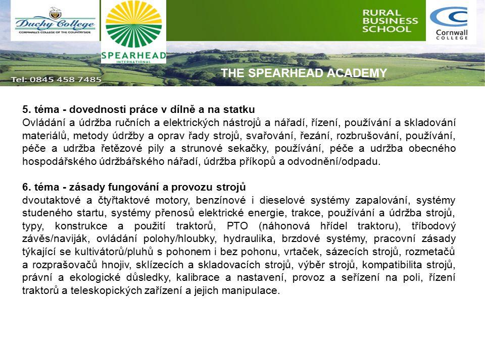 5. téma - dovednosti práce v dílně a na statku Ovládání a údržba ručních a elektrických nástrojů a nářadí, řízení, používání a skladování materiálů, m
