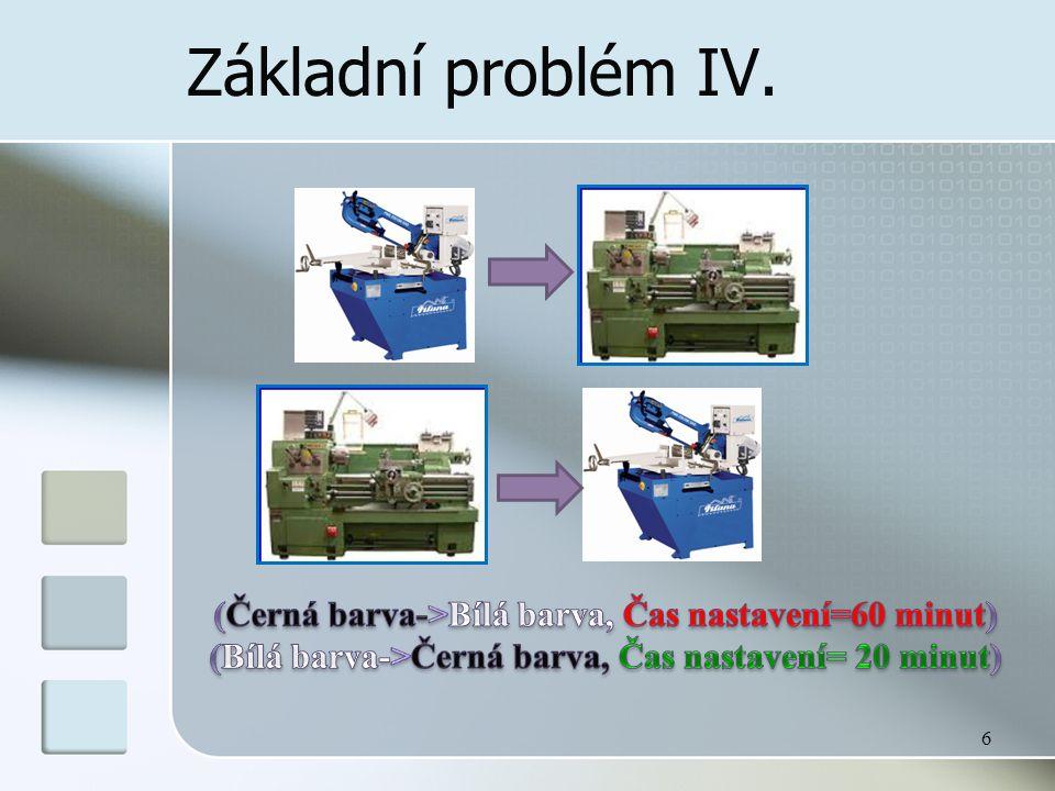 Základní problém (nedostatek komponent) V.