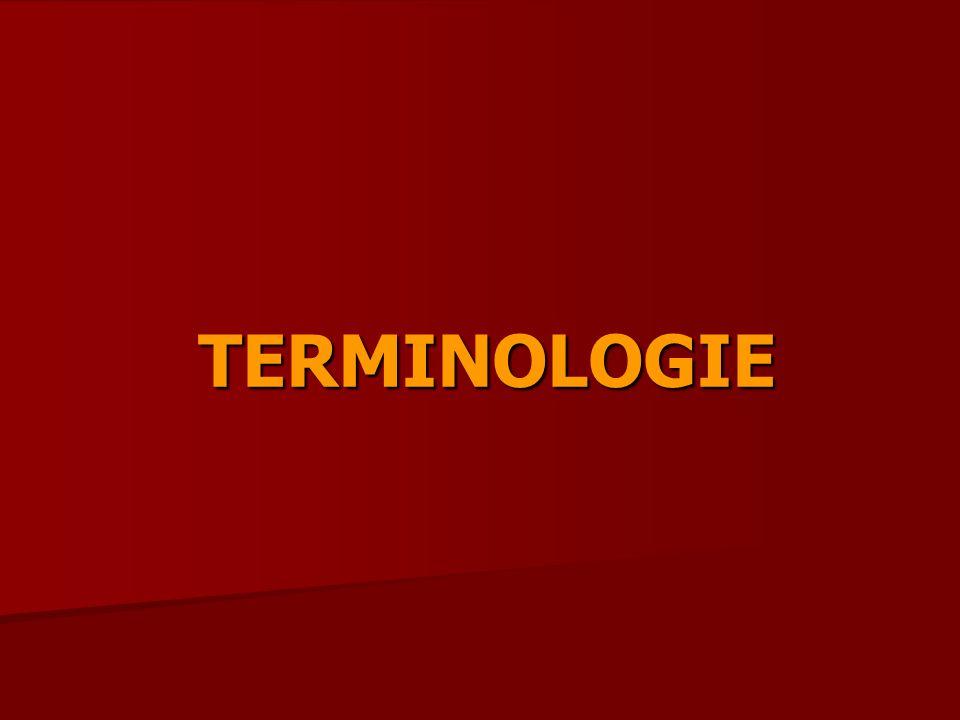 TERMINOLOGIE