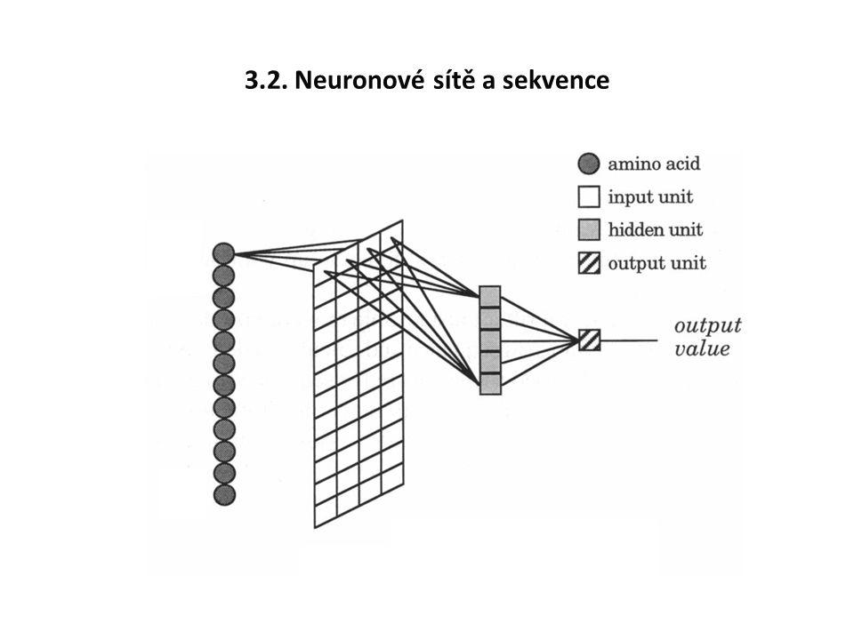 3.2. Neuronové sítě a sekvence