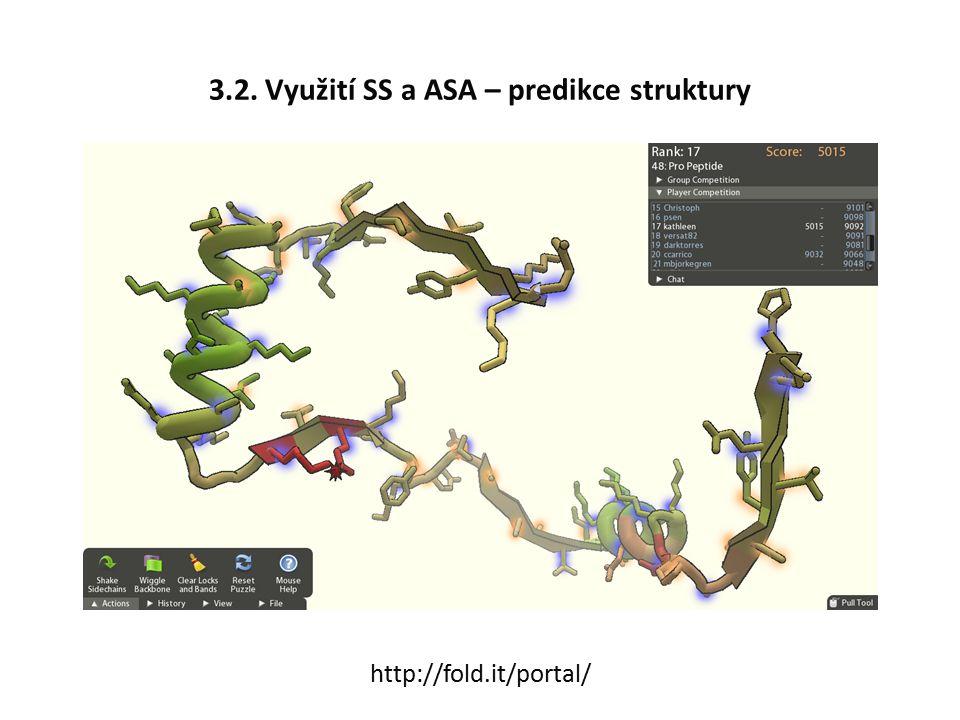 3.2. Využití SS a ASA – predikce struktury http://fold.it/portal/
