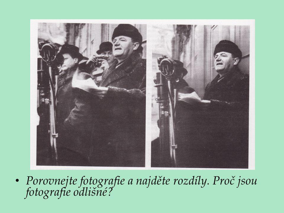 Porovnejte fotografie a najděte rozdíly. Proč jsou fotografie odlišné?