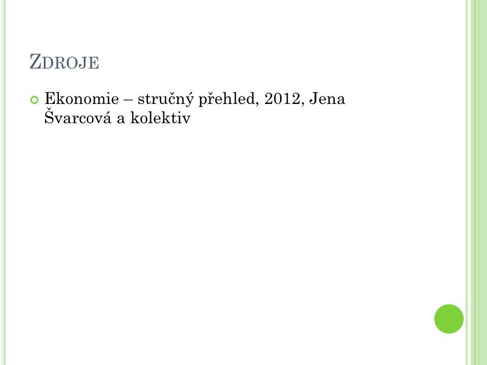 Z DROJE Ekonomie – stručný přehled, 2012, Jena Švarcová a kolektiv