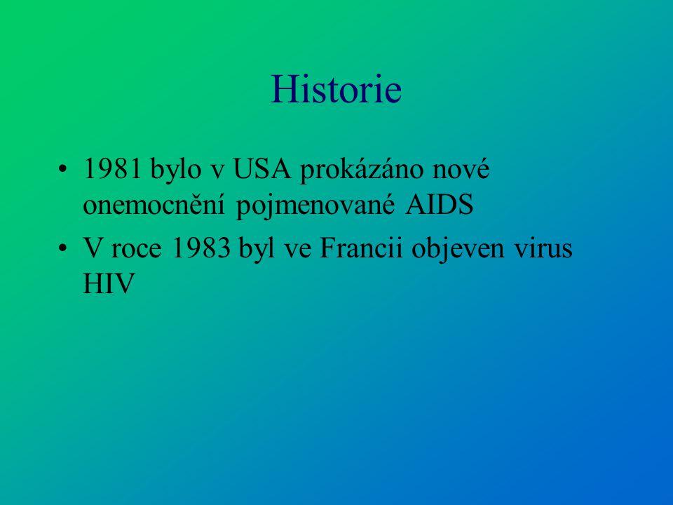 Virus HIV Jsou 2 typy HIV- 1 a HIV-2.