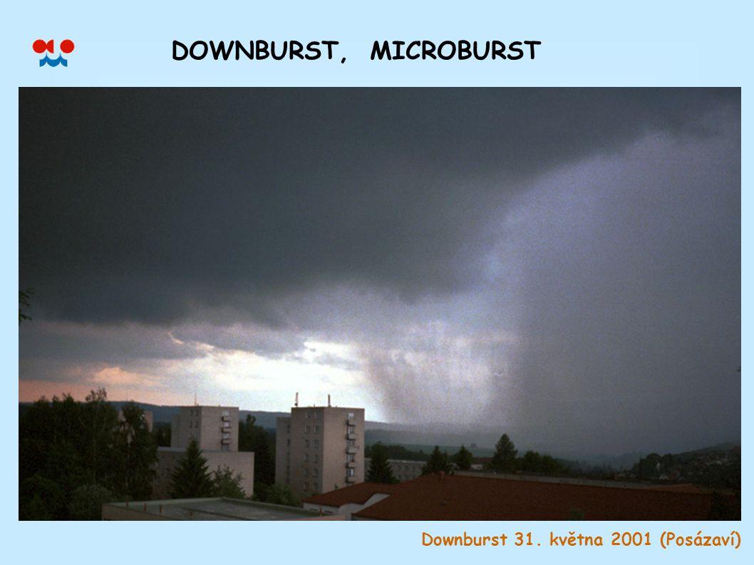 Downburst 31. května 2001 (Posázaví) DOWNBURST, MICROBURST