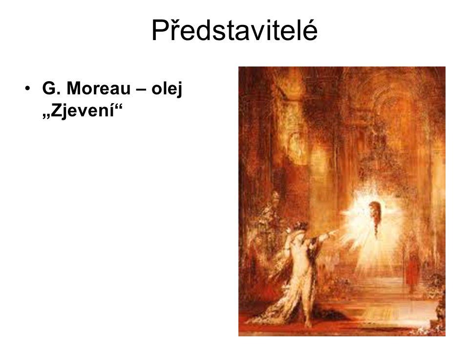 """Představitelé G. Moreau – olej """"Zjevení"""""""