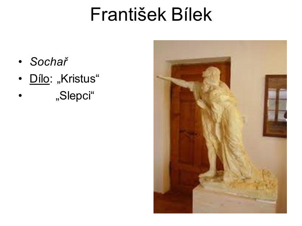 """František Bílek Sochař Dílo: """"Kristus"""" """"Slepci"""""""