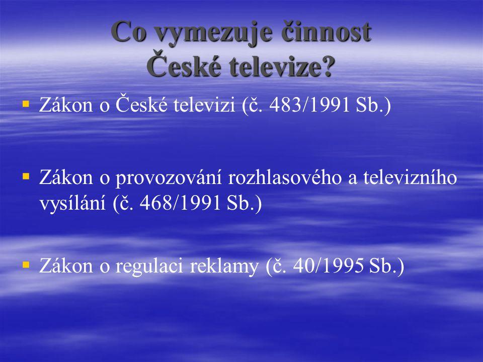 Co vymezuje činnost České televize.  Zákon o České televizi (č.