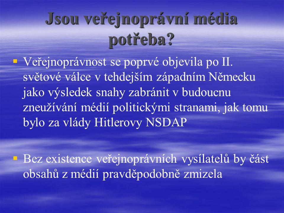 Jsou veřejnoprávní média potřeba.  Veřejnoprávnost se poprvé objevila po II.