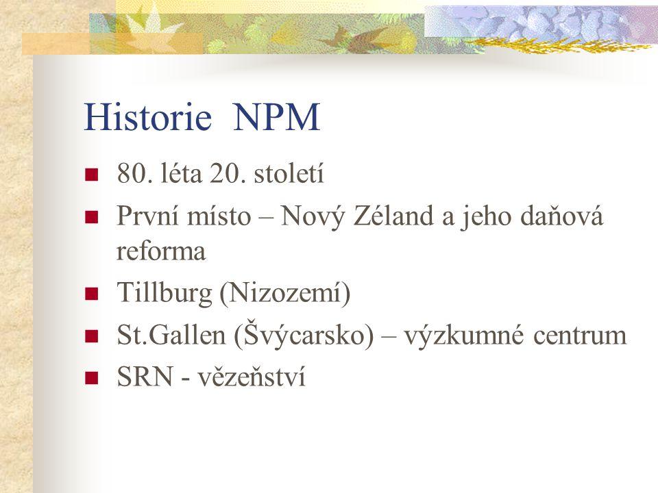 Historie NPM 80.léta 20.