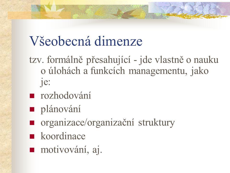 Obsahová dimenze tzv.
