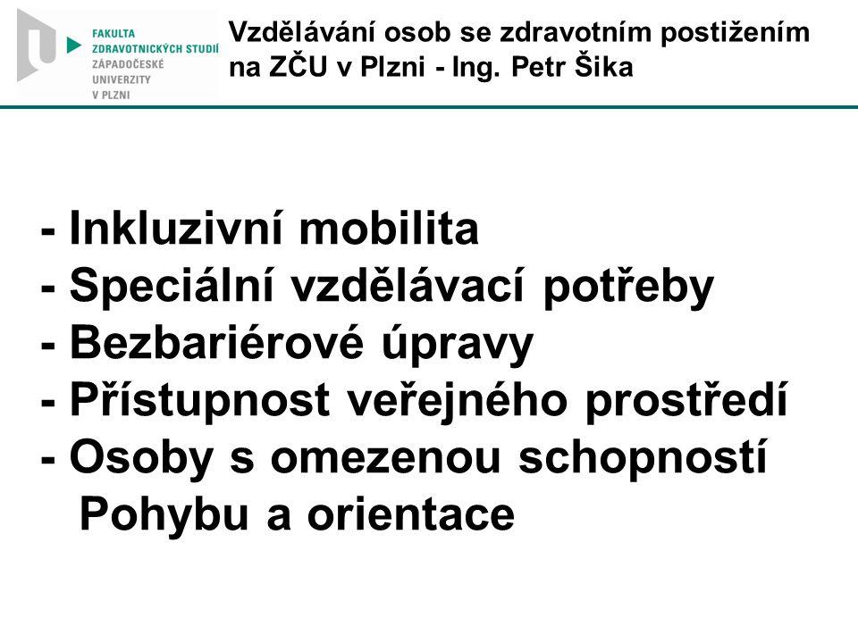 Vzdělávání osob se zdravotním postižením na ZČU v Plzni - Ing.