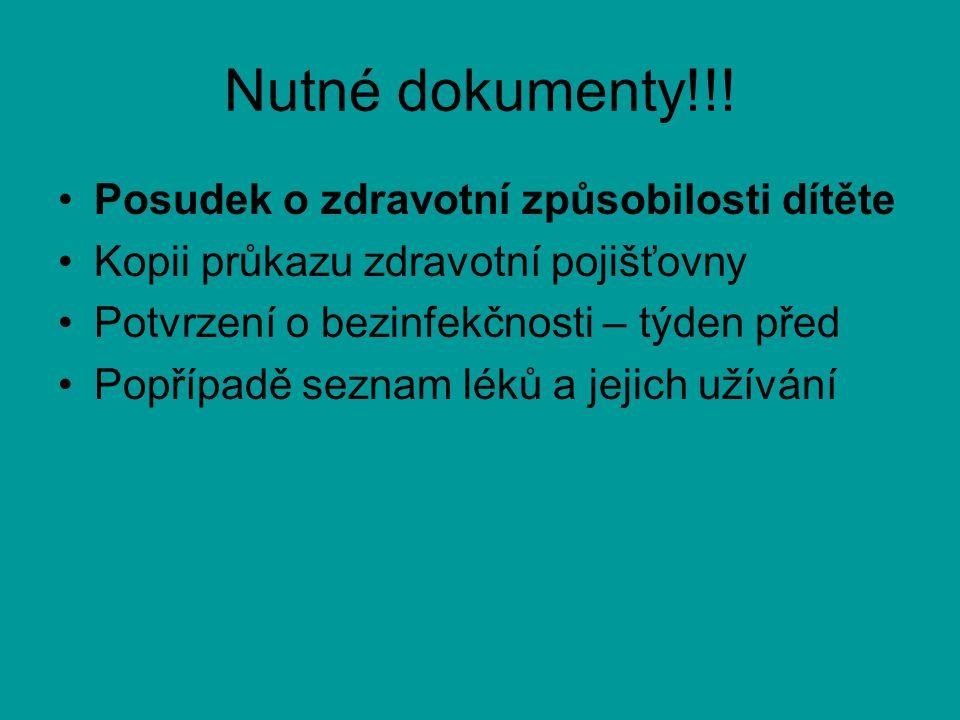 Nutné dokumenty!!.