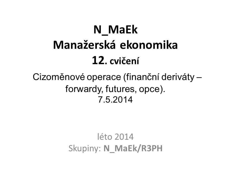 Program cvičení LS 2014 1.Marketingová východiska podnikatelského projektu.Ot.SZZ.