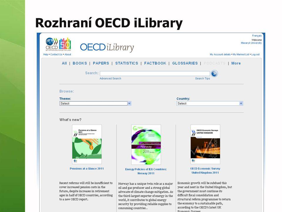 Rozhraní OECD iLibrary