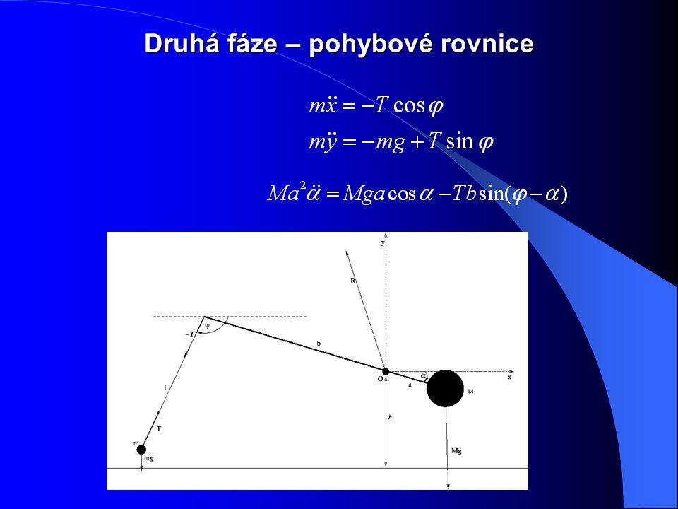Druhá fáze – pohybové rovnice