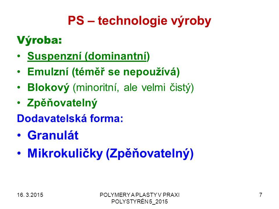 PS – technologie zpracování 16.