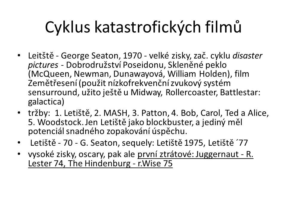Cyklus katastrofických filmů Leitště - George Seaton, 1970 - velké zisky, zač. cyklu disaster pictures - Dobrodružství Poseidonu, Skleněné peklo (McQu