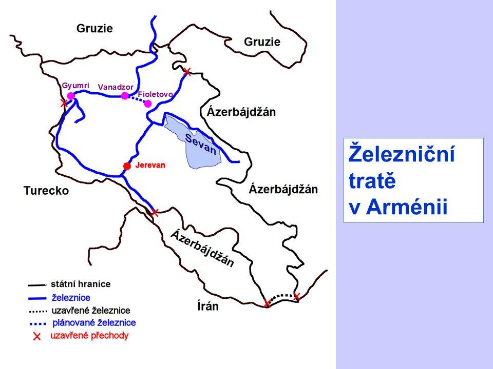 Železniční tratě v Arménii