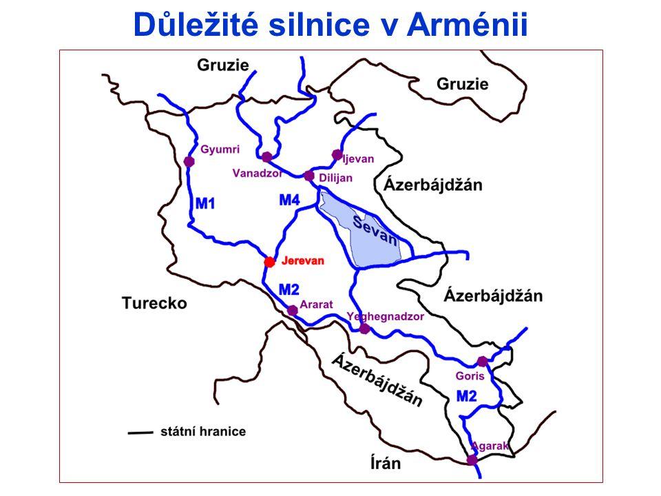 Důležité silnice v Arménii