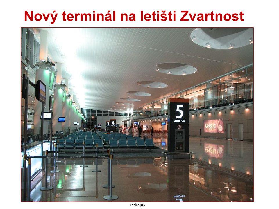 Nový terminál na letišti Zvartnost