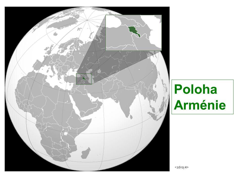Poloha Arménie