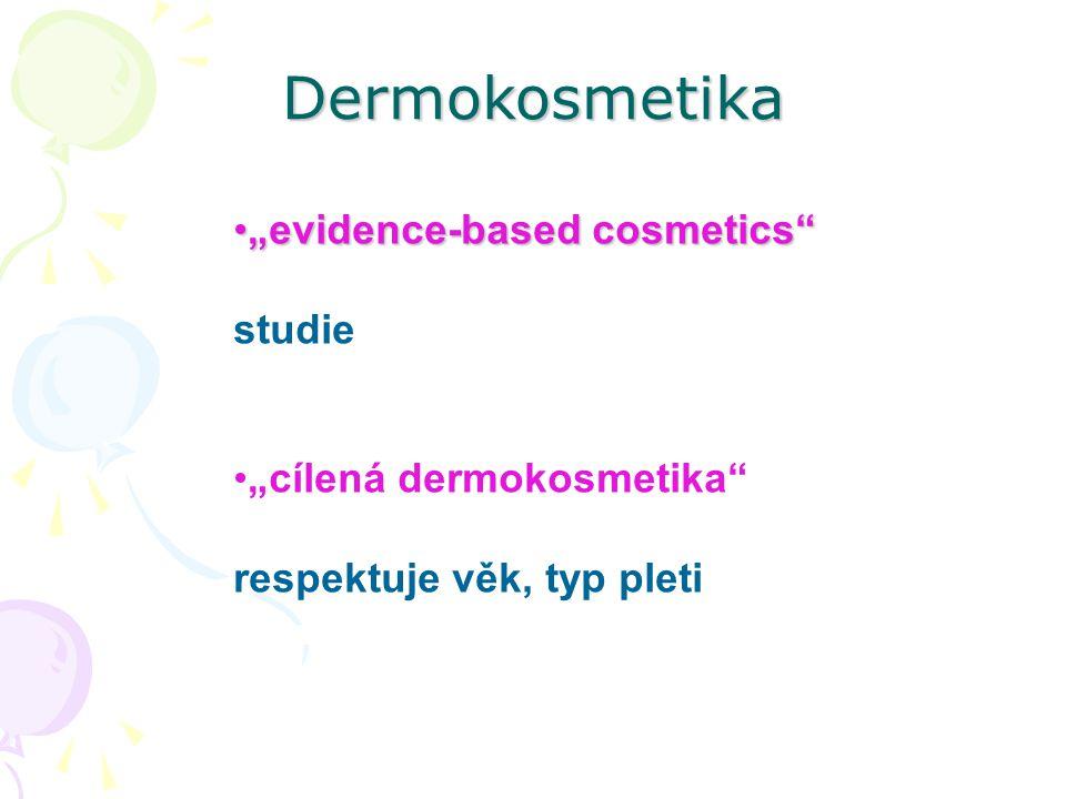 "Dermokosmetika ""evidence-based cosmetics""""evidence-based cosmetics"" studie ""cílená dermokosmetika"" respektuje věk, typ pleti"