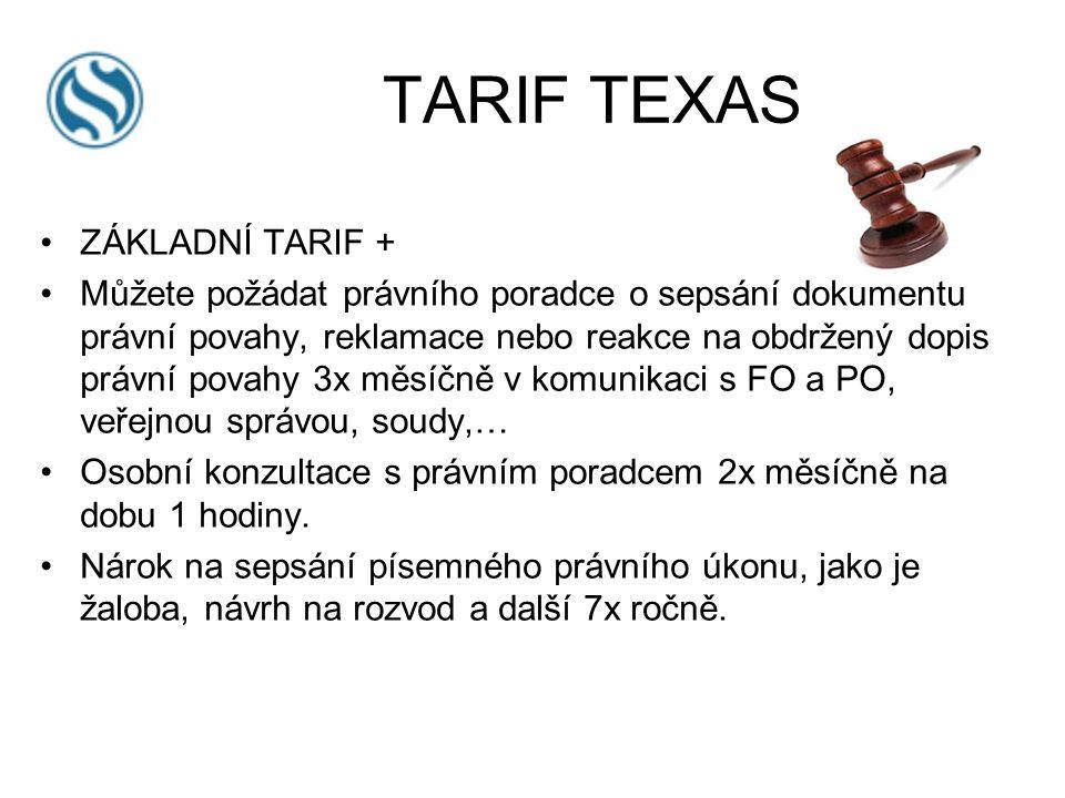 ZÁKLADNÍ TARIF + Můžete požádat právního poradce o sepsání dokumentu právní povahy, reklamace nebo reakce na obdržený dopis právní povahy 3x měsíčně v