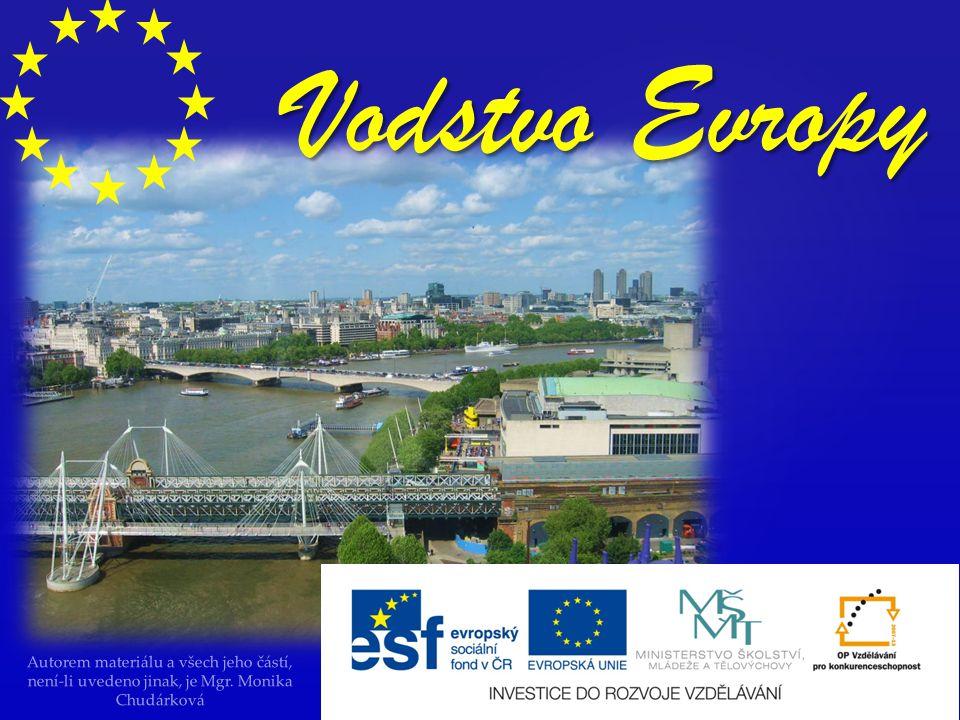 Autorem materiálu a všech jeho částí, není-li uvedeno jinak, je Mgr. Monika Chudárková Vodstvo Evropy