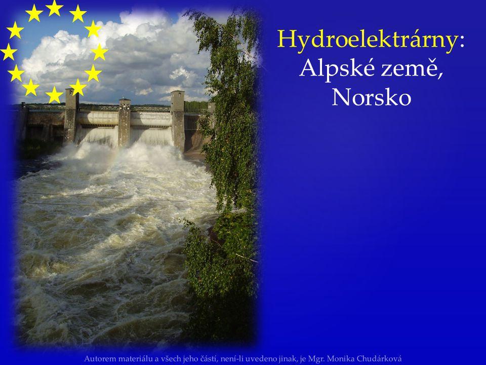 Autorem materiálu a všech jeho částí, není-li uvedeno jinak, je Mgr. Monika Chudárková Hydroelektrárny: Alpské země, Norsko