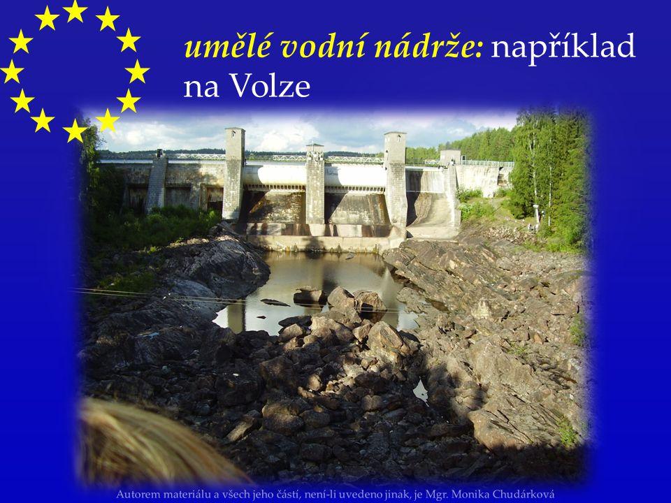 Autorem materiálu a všech jeho částí, není-li uvedeno jinak, je Mgr. Monika Chudárková umělé vodní nádrže: například na Volze